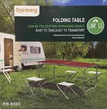 Стол складной туристический для пикника + 4 стула Rainberg RB-9300 с регулировкой высоты, фото 3