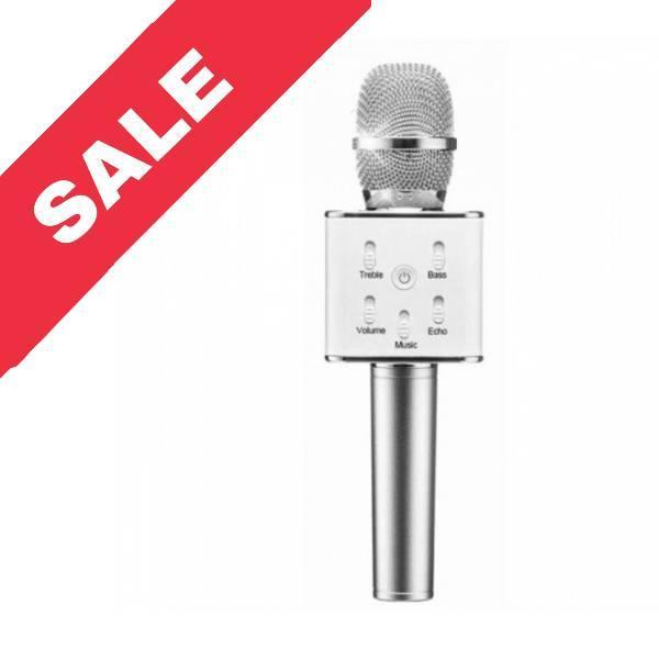 """Колонка мікрофон (Wireless Microphone) """"Q7"""" Silver"""