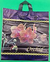 """Пакет полиэтиленовый цветной с петлевой ручкой плотный """"Орхидея""""(38х42+3) 90мк ДПА, 50 шт\уп, фото 1"""