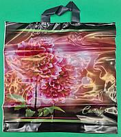 """Пакет полиэтиленовый цветной с петлевой ручкой плотный ламинированный """"Камелия"""" (40х40+3) 90мк КВС, 50 шт\уп, фото 1"""
