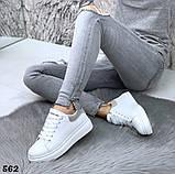 Жіночі кросівки білі кеди, принт хамелеон, фото 5