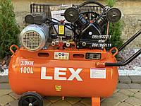 Компрессор воздушный ременной LEX LXAC265-100 3000 Вт 660 л/мин, фото 1