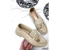 Туфли лоферы с украшением, фото 1