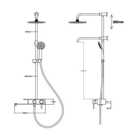 Душевая система Q-tap BLA 1104, фото 2