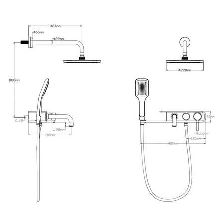 Душевая система Q-tap BLA 1111, фото 2