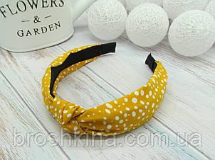 Ободок Чалма основа пластик/текстиль желтый