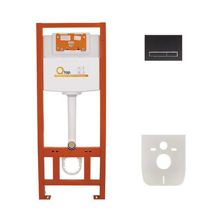 Инсталляция для унитаза Q-tap Nest комплект 4 в 1 с панелью смыва PL M08MBLA, фото 2