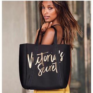 💋 Пляжная Термо-сумка Victoria's Secret Cooler Beach Tote Bag, Черная