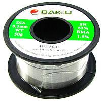 Припій дротяний (Sn63Pb35.1+Flux1.9%) BK-5003 0.3 мм 50гр Baku