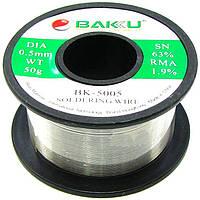 Припій дротяний (Sn63Pb35.1+Flux1.9%) BK-5005 0.5 мм 50гр Baku