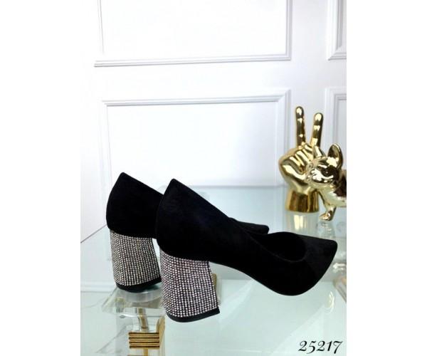 Туфли лодочки блестящий каблук