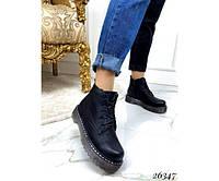 Ботинки на шнурках,тракторная подошва, фото 1