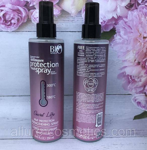 Спрей-укрепление для волос «Термозащита» Bio World Secret Life Detox Therapy