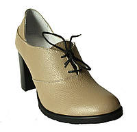Туфли на шнуровке кожа бежевый флотар, фото 1
