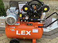 Компрессор воздушный ременной LEX LXAC280-120 5500 Вт 880 л/мин, фото 1