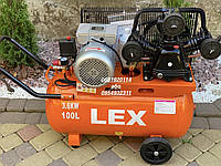 Компрессор воздушный ременной LEX LXAC365-100 3600 Вт 760 л/мин, фото 1