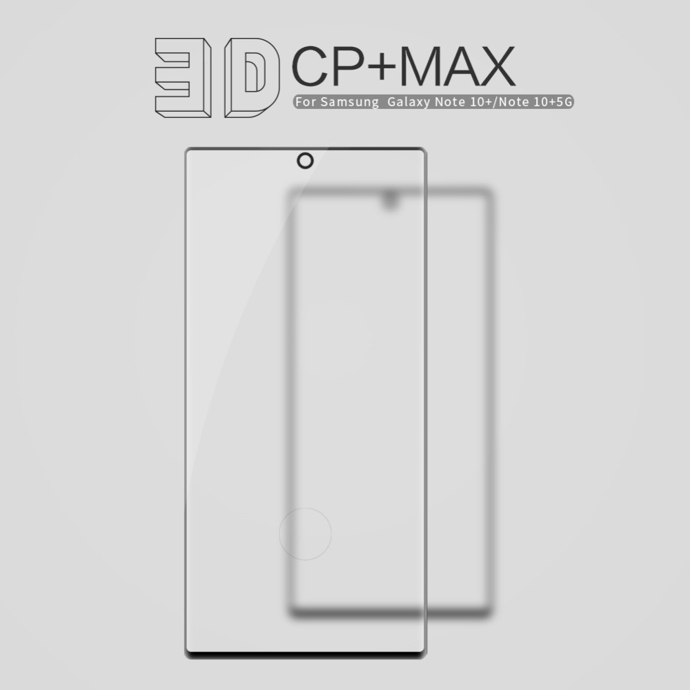 Защитное стекло Nillkin 3D CP+ Max для Samsung Note 10 Plus закругленные края