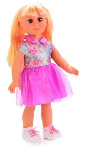 Кукла большая классическая Дефа DEFA 45 см, блондинка в розовом, 5504