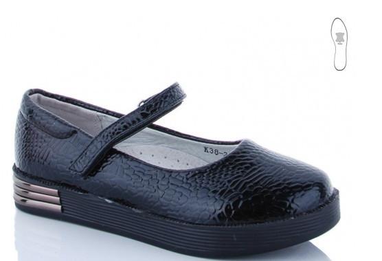 Туфли подросток синие,туфли детские школьные на девочку Солнце-Kimbo-o-o-K38-27