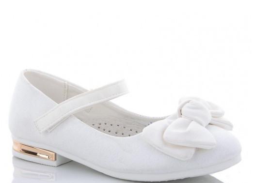 Туфли подросток белые,туфли детские школьные на девочку Солнце-Kimbo-o-SB93-3Y
