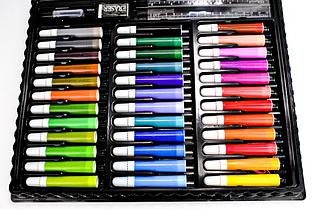 Набор для рисования 150 предметов с мольбертом для детей в удобном чемодане, фото 2