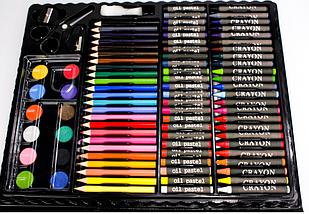 Набор для рисования 150 предметов с мольбертом для детей в удобном чемодане, фото 3