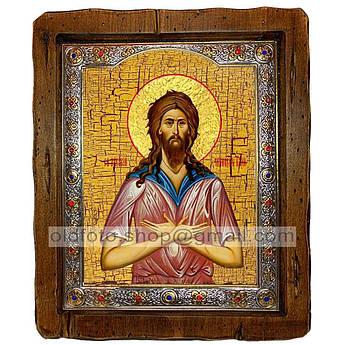 Икона Алексий Человек Божий  ,с посеребренным окладом 210х250 мм