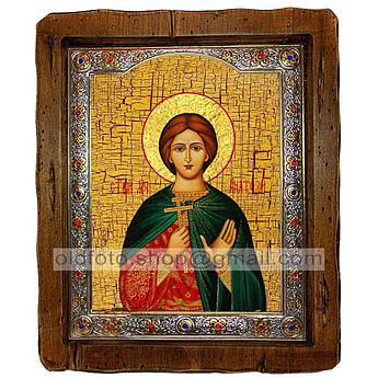 Икона Анатолий Святой Мученик Никейский  ,с посеребренным окладом 110х130 мм