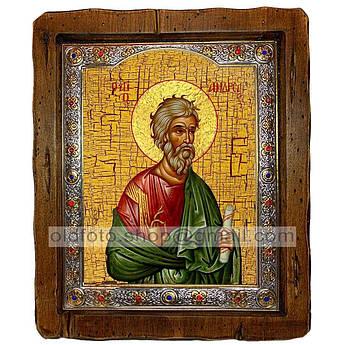 Икона Андрей Святой Апостол Первозванный  ,с посеребренным окладом 110х130 мм