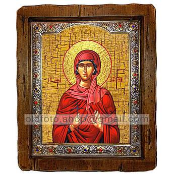 Ікона Агафія Свята мучениця (з посрібленою рамкою 110х130 мм)