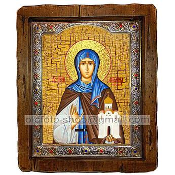Ікона Ангеліна Свята Преподобна Сербська (з посрібленою рамкою 110х130 мм)