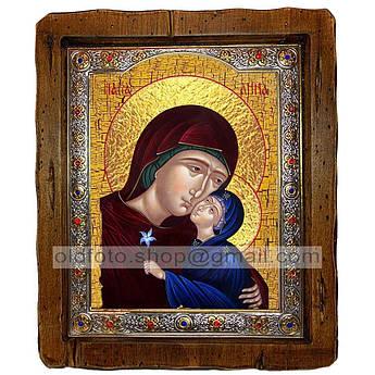 Ікона Свята Праведна Анна, мати Пресвятої Богородиці (з посрібленою рамкою 110х130 мм)