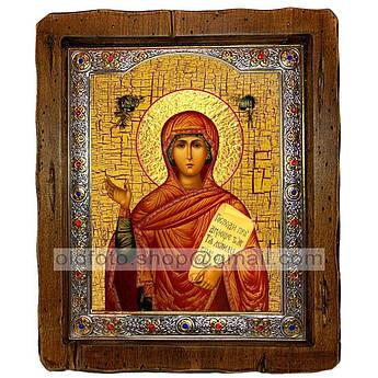 Ікона Свята Анна Пророчиця (з посрібленою рамкою 110х130 мм)