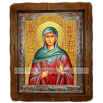 Ікона Валерія (Калерія) Свята Мучениця Кесарийская (з посрібленою рамкою 110х130 мм)