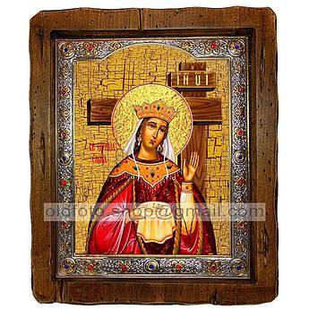 Икона Елена Святая Равноапостольная Царица (с посеребренной рамкой 110х130 мм)