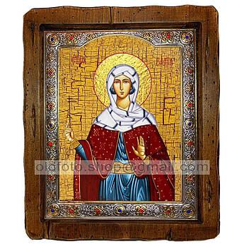 Ікона Злата Свята Мучениця (з посрібленою рамкою 110х130 мм)