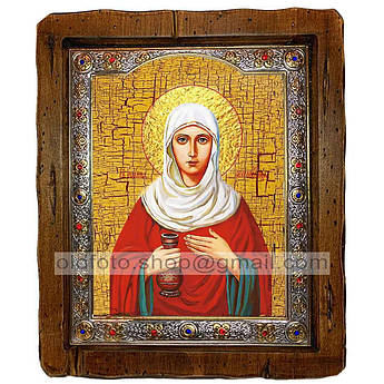 Ікона Іоанна Свята Мироносиця (з посрібленою рамкою 110х130 мм)