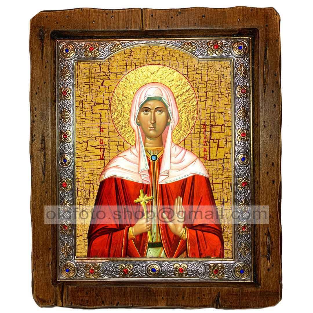 Ікона Христина (Христина) Свята Мучениця (з посрібленою рамкою 110х130мм)