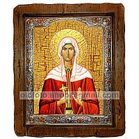 Икона Христина (Кристина) Святая Мученица  ,с посеребренным окладом 110х130 мм