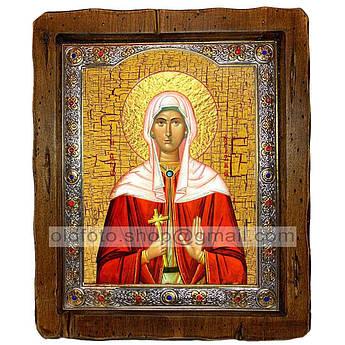 Ікона Христина (Христина) Свята Мучениця (з посрібленою рамкою 110х130 мм)