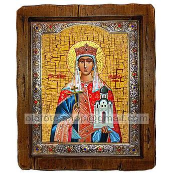 Ікона Людмила Свята Мучениця Княгиня Чеська (з посрібленою рамкою 110х130 мм)