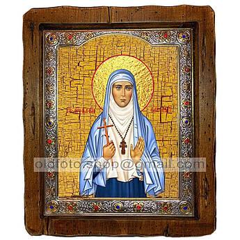 Икона Елисавета (Елизавета) Святая Мученица Великая Княгиня  ,с посеребренным окладом 160х200 мм