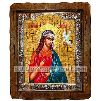 Икона Ирина Святая Великомученица  ,с посеребренным окладом 160х200 мм