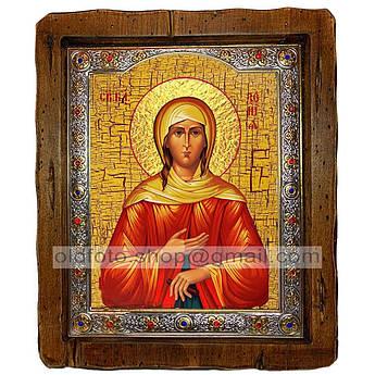 Икона Ксения Святая Блаженная Петербургская  ,с посеребренным окладом 160х200 мм