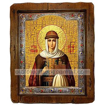 Икона Ольга Святая Княгиня  ,с посеребренным окладом 160х200 мм