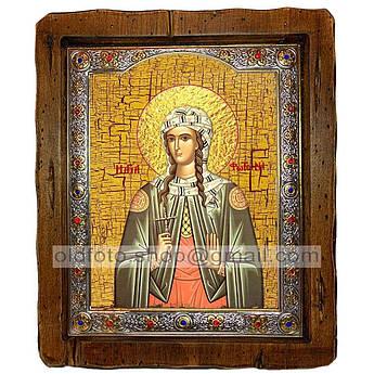 Икона Светлана Святая Мученица  ,с посеребренным окладом 160х200 мм
