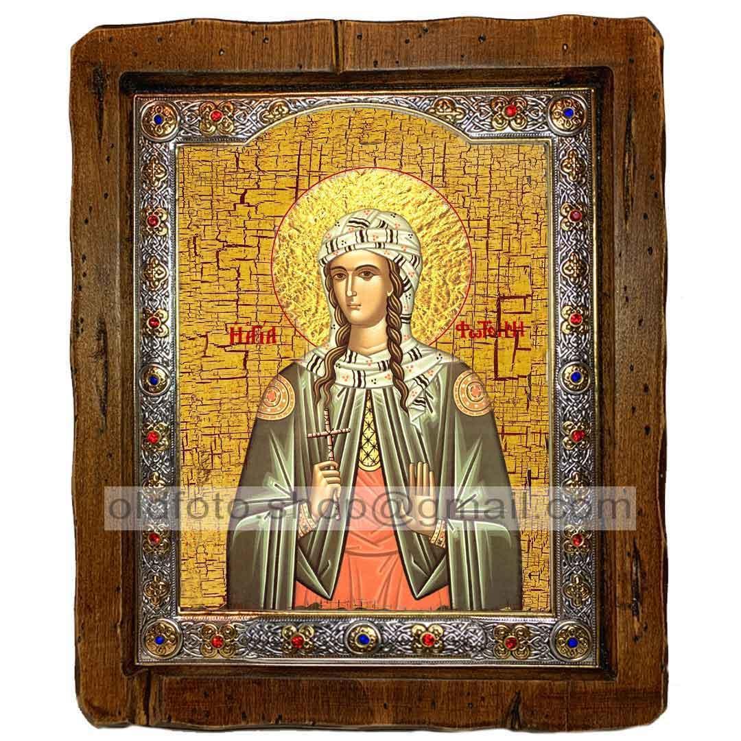 Икона Светлана Святая Мученица  ,с посеребренным окладом 110х130 мм