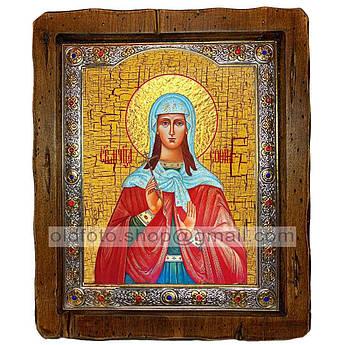 Икона София Святая Мученица Римская  ,с посеребренным окладом 160х200 мм