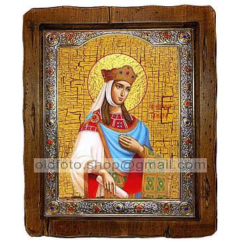 Икона Тамара Святая Царица Великая  ,с посеребренным окладом 160х200 мм