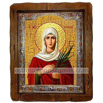 Икона Татиана (Татьяна) Святая Мученица  ,с посеребренным окладом 160х200 мм